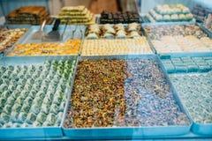 Vários doces em Istambul Fotografia de Stock Royalty Free
