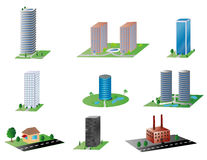 Vários edifícios Imagens de Stock Royalty Free
