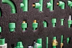 Vários encaixes, torneiras de água, conectores para sondar imagens de stock royalty free