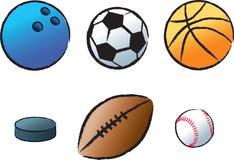Vários esportes ilustração do vetor