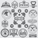 vários esportes e ícones da aptidão e elementos do projeto Foto de Stock