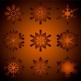Vários flocos de neve diferentes ilustração royalty free