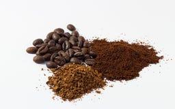 Vários formulários do café saboroso e perfumado Imagem de Stock