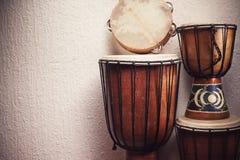 Vários instrumentos de percussão Imagem de Stock Royalty Free