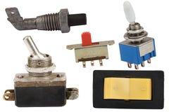 Vários interruptores Imagem de Stock Royalty Free