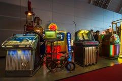 Vários jukebox musicais retros Fotografia de Stock