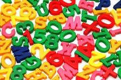 Vários letras e dígitos Fotografia de Stock