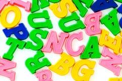 Vários letras e dígitos imagens de stock