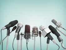 Vários microfones Foto de Stock Royalty Free