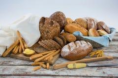 Vários nacos do pão Fotografia de Stock Royalty Free