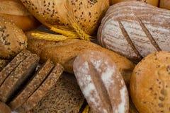 Vários nacos do pão Fotografia de Stock
