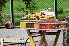 Vários petiscos e pratos de India foto de stock royalty free