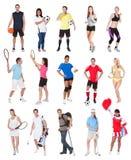 Vários povos dos esportes Foto de Stock