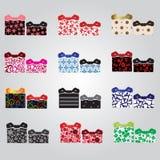 Vários presentes textured coloridos eps10 dos pacotes Fotos de Stock Royalty Free