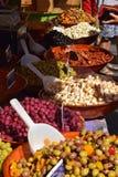 Vários produtos no mercado em França Foto de Stock Royalty Free