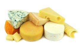 Vários queijos Fotografia de Stock