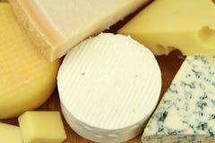 Vários queijos Imagens de Stock
