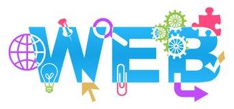 Vários símbolos da Web coloridos Fotografia de Stock Royalty Free