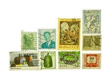 Vários selos do mundo Imagem de Stock