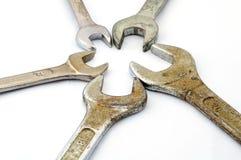 Vários tamanhos de chaves velhas Imagens de Stock
