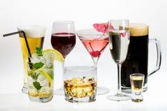 Vários tipos de álcool Imagem de Stock
