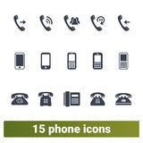 Vários tipos de ícones do vetor do telefone ajustados ilustração do vetor