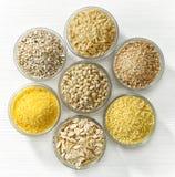 Vários tipos de cereais Fotos de Stock Royalty Free