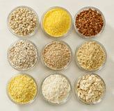 Vários tipos de cereais Imagens de Stock Royalty Free