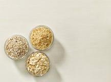 Vários tipos de cereais Fotografia de Stock Royalty Free