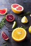 Vários tipos de citrinos Foto de Stock Royalty Free