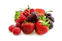 Vários tipos de fruta vermelha frescos Imagem de Stock Royalty Free