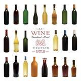 Vários tipos de garrafas de vinho Ilustração do vetor ilustração do vetor