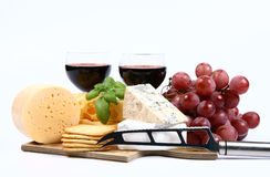 Vários tipos de queijo Fotos de Stock