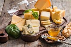 Vários tipos de queijo Imagens de Stock Royalty Free