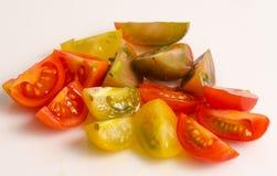 Vários tipos de tomates de cereja Imagem de Stock