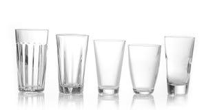 Vários tipos de vidros Imagens de Stock