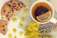 Vários tipos do chá na tabela de madeira Fotografia de Stock