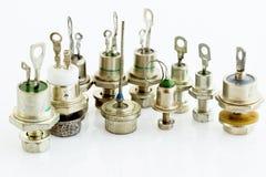 Vários tiristores e diodos Foto de Stock