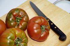Vários tomates do raf em uma placa Imagem de Stock