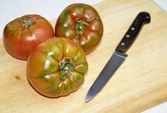 Vários tomates do raf em uma placa Fotografia de Stock