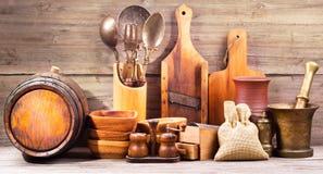 Vários utensílios da cozinha Fotos de Stock