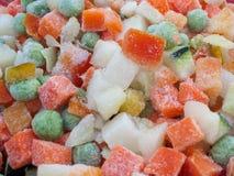 Vários vegetais congelados imagem de stock royalty free