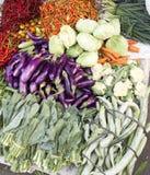 Vários vegetais no mercado Foto de Stock