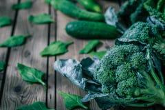 Vários vegetais verdes Foto de Stock
