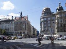 Václavské náměstí avenue, Prague royalty free stock image