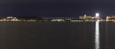 Västerbron es un puente en Estocolmo Suecia Foto de archivo libre de regalías