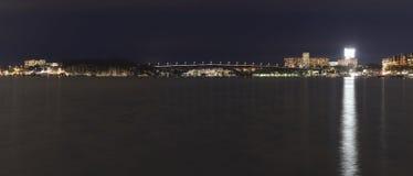 Västerbron jest mostem w Sztokholm Szwecja Zdjęcie Royalty Free