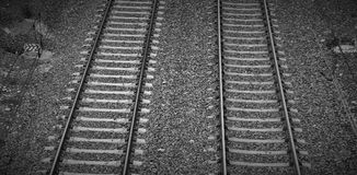 VÃas de tren Royaltyfria Foton
