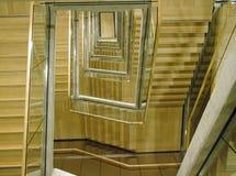 Vão das escadas moderno da construção Imagem de Stock Royalty Free