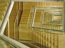 Vão das escadas moderno da construção Fotografia de Stock